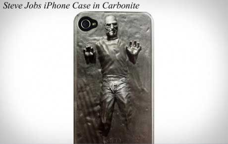 Capa para iPhone Steve Jobs em carbonite