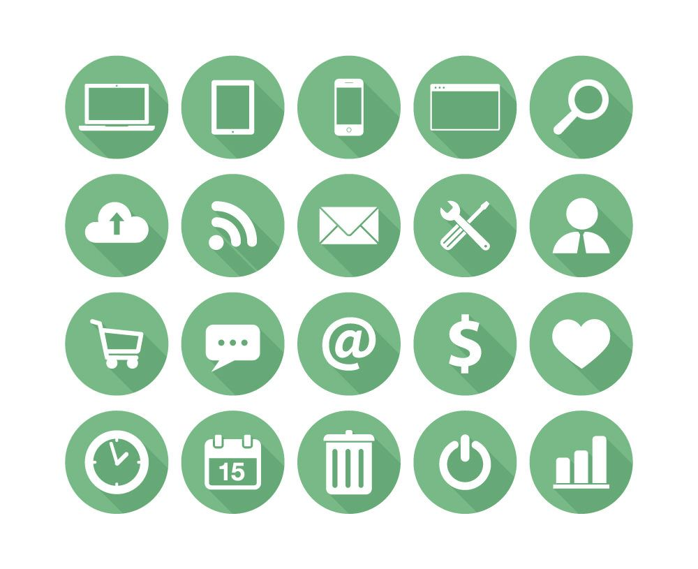 Flat Icons For Business Icone Gratuit Icones Plats Icone