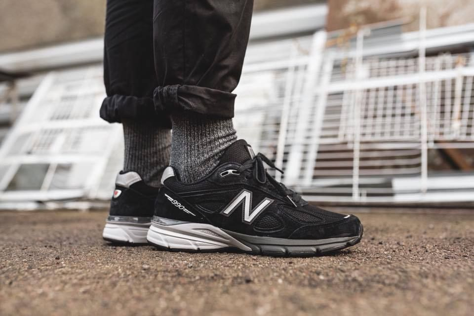 buy popular 47d01 14b11 New Balance 990 Made In USA - Black & Grey Premium Quality ...