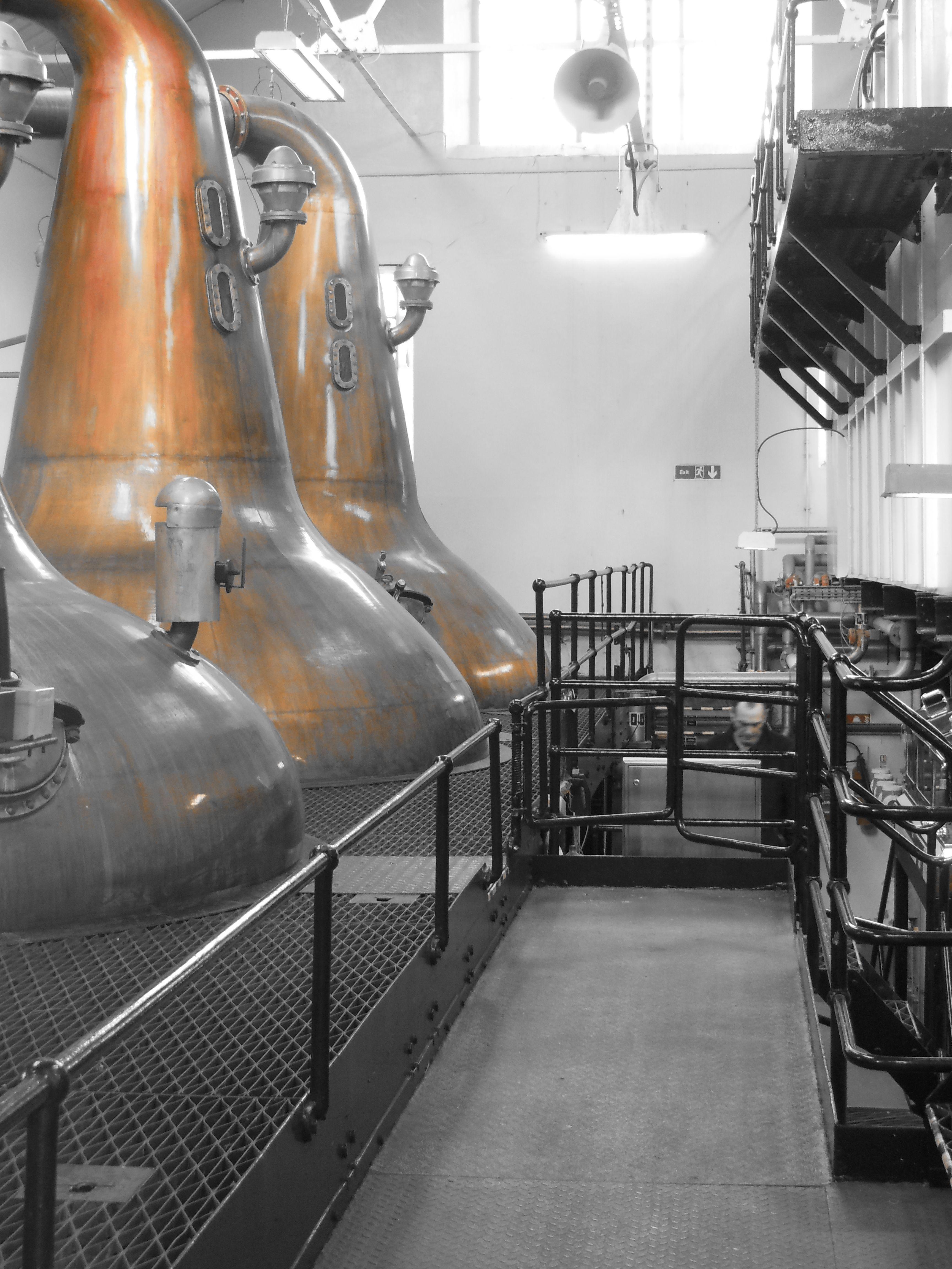 Stills at Highland Park distillery