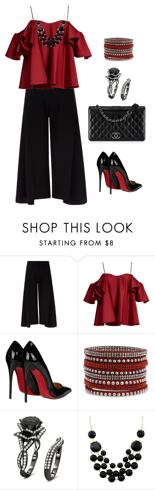 """""""Chic"""" by ebramos ❤ liked on Polyvore featuring Victoria, Victoria Beckham, Anna October, Christian Louboutin and Chanel"""