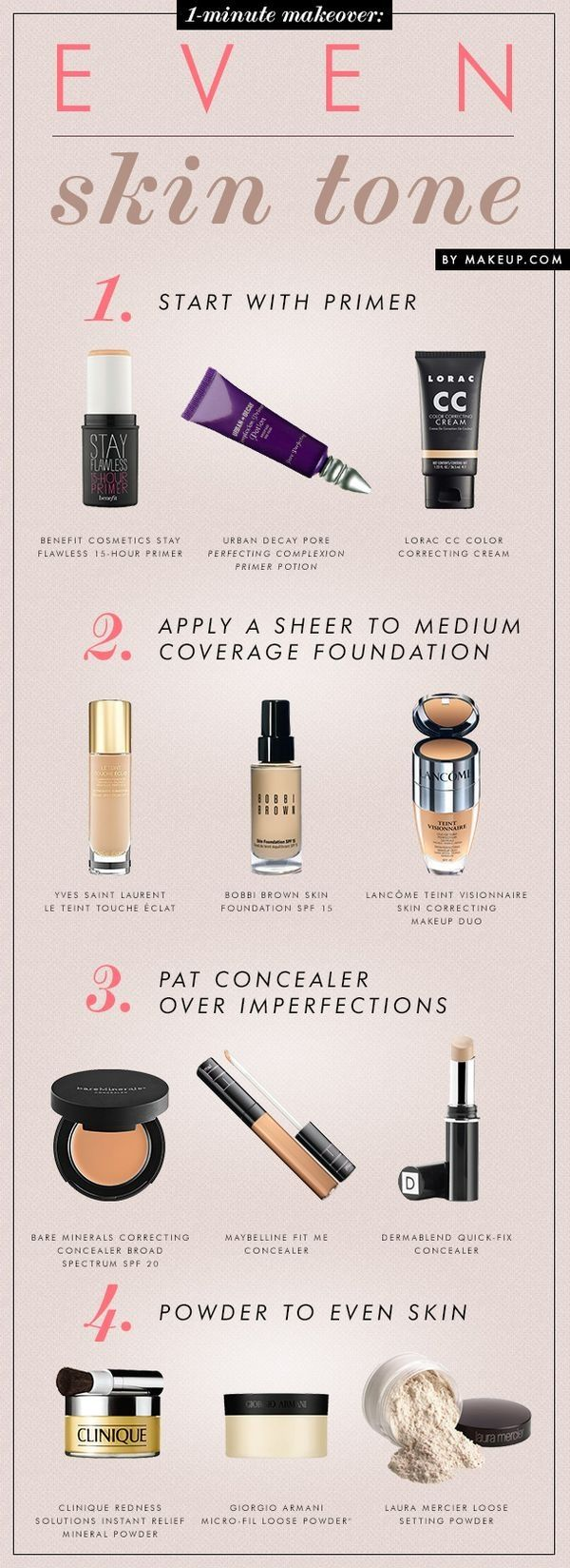 A good guide and list of products Makeup Beauty makeup