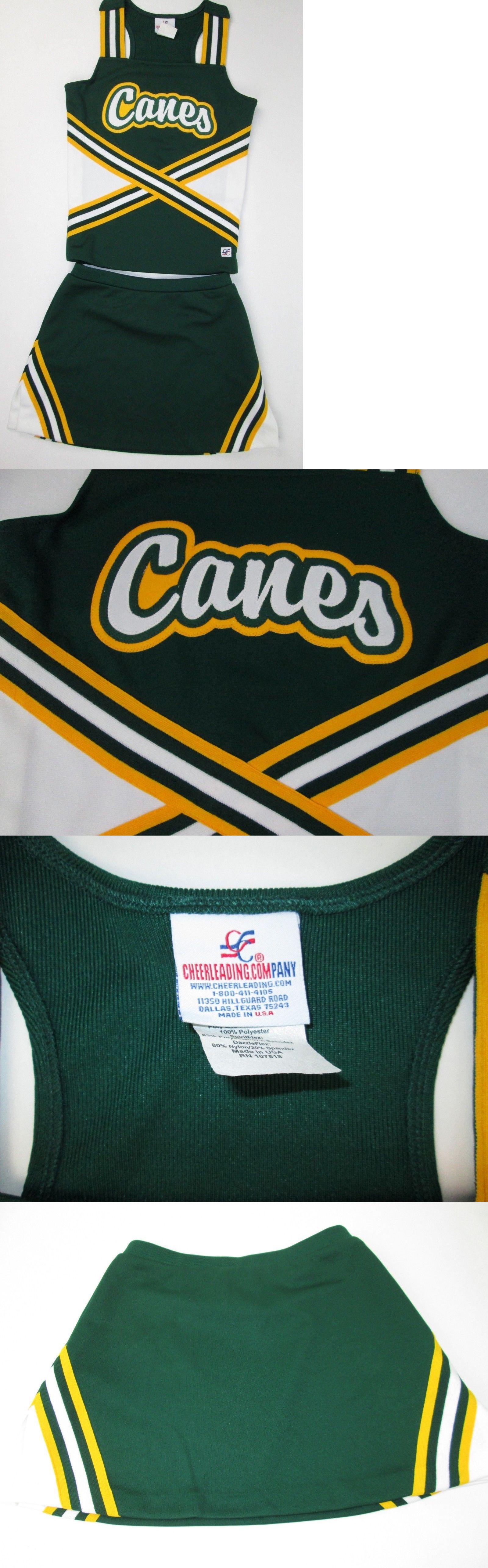 Cheerleading 66832: New Canes Cheerleader Uniform Outfit Costume 32 Chest Elastic Skirt Halloween! -> BUY IT NOW ONLY: $35 on #eBay #cheerleading #canes #cheerleader #uniform #outfit #costume #chest #elastic #skirt #cheerleaderuniform