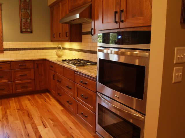 Cherry Cabinets With Orb Hardware Kitchen Designs Layout Cherry Cabinets Kitchen Kitchen Remodel