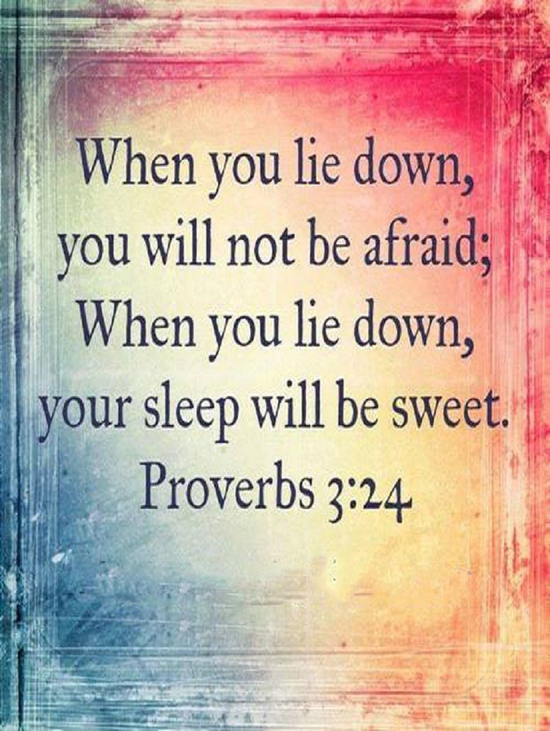 ✞ The Voice of Truth ✞, PROVERBS 3:24   Proverbs, Encouraging scripture,  Bible quotes about faith