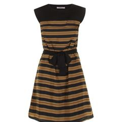 Rouched Striped Dress