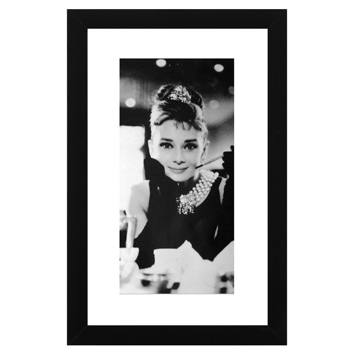 Audrey Hepburn Framed Wall Art would be perfect for around the store ...