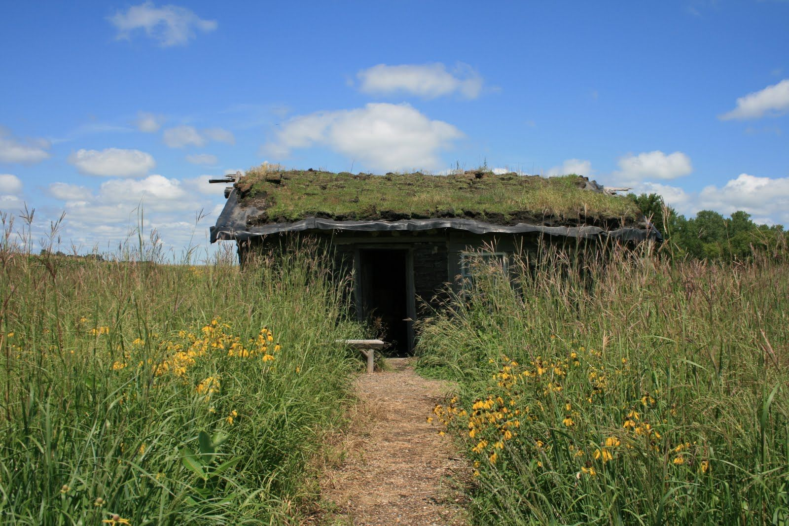 Sod House Near Plum Creek The Site Of The Ingalls Family Dugout