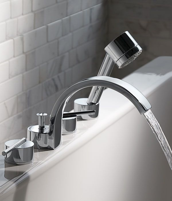Tub Faucet Rem Deck Mount Tub Filler With Hand Shower From Dxv In