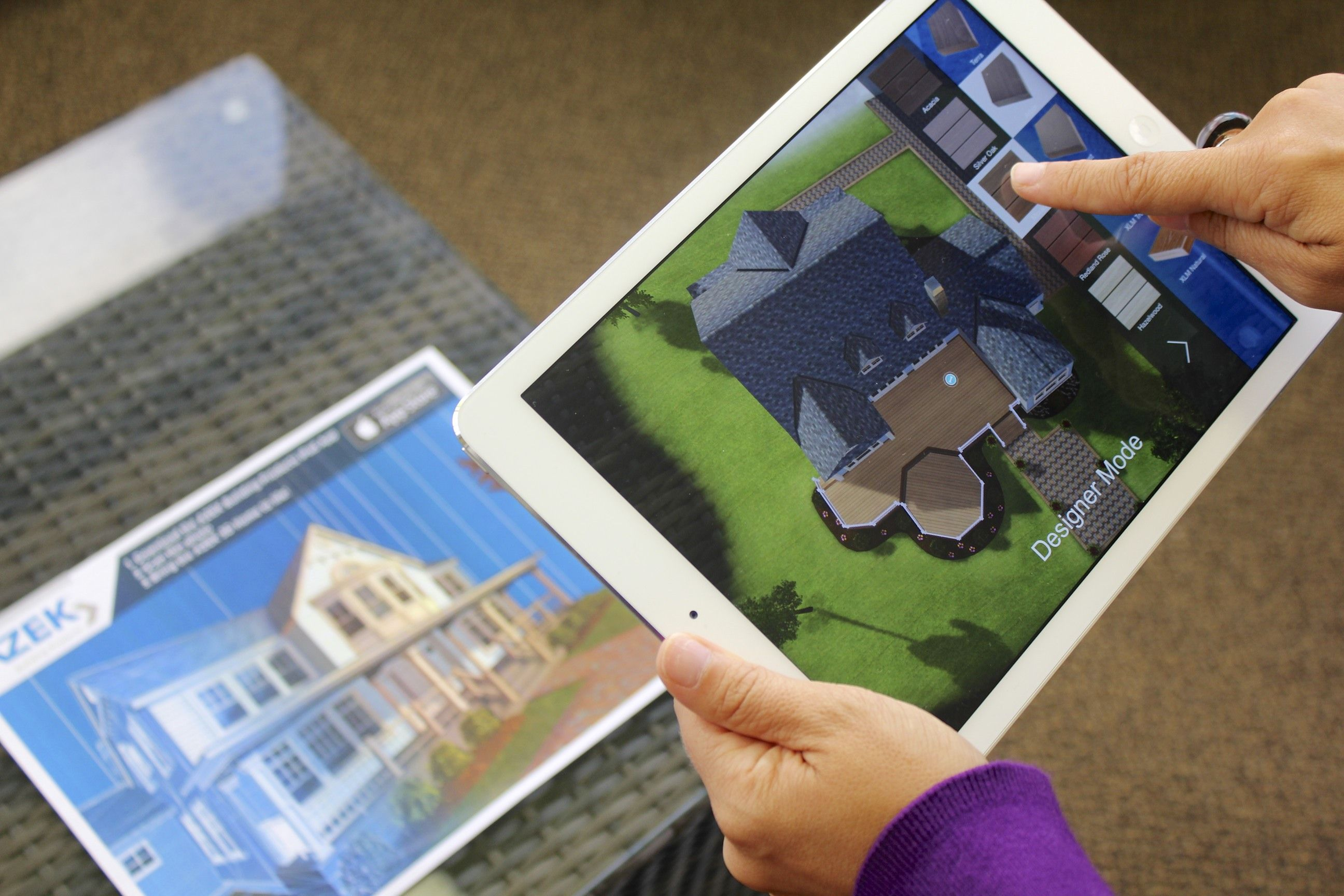 """Using an iPad, scan a """"visualization marker"""", such as the"""