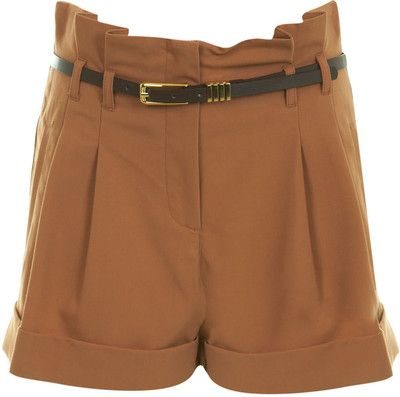 Toffee Naples Belted Short