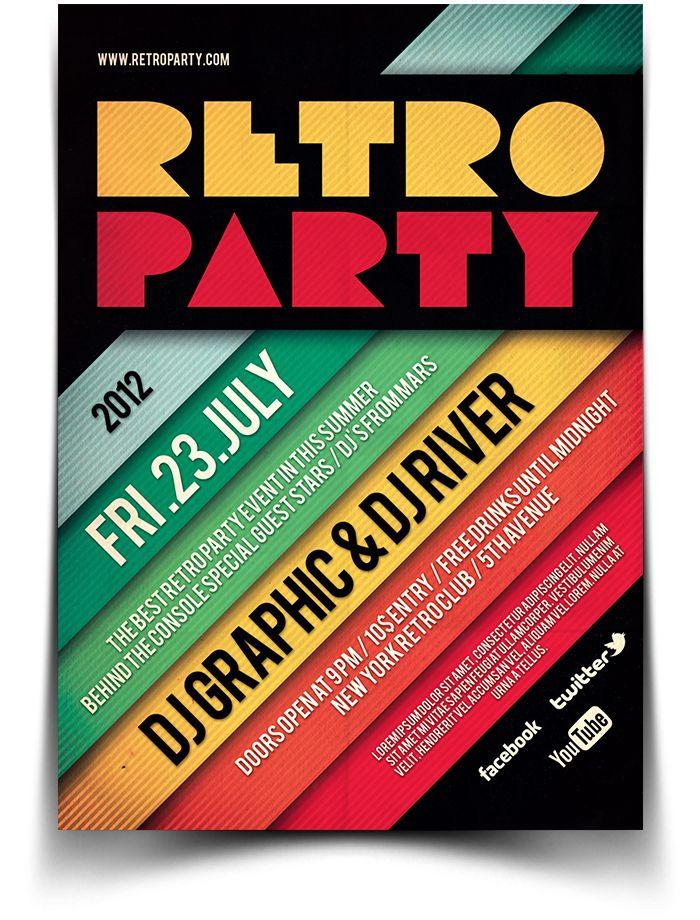 Retro Typography Flyer  Poster  Design    Retro