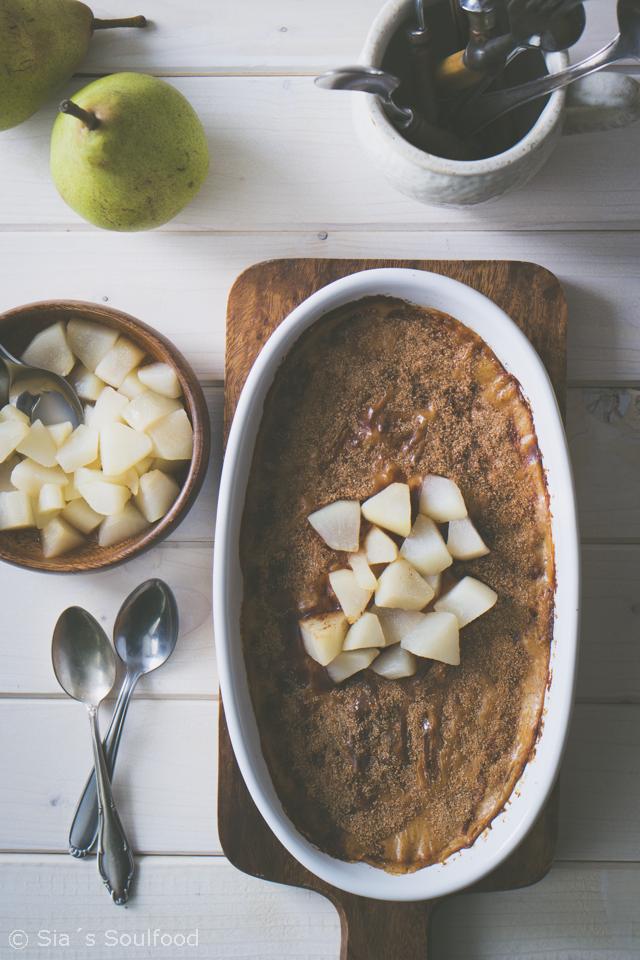 Ofen Milchreis Mit Birnen Kompott Grießbrei