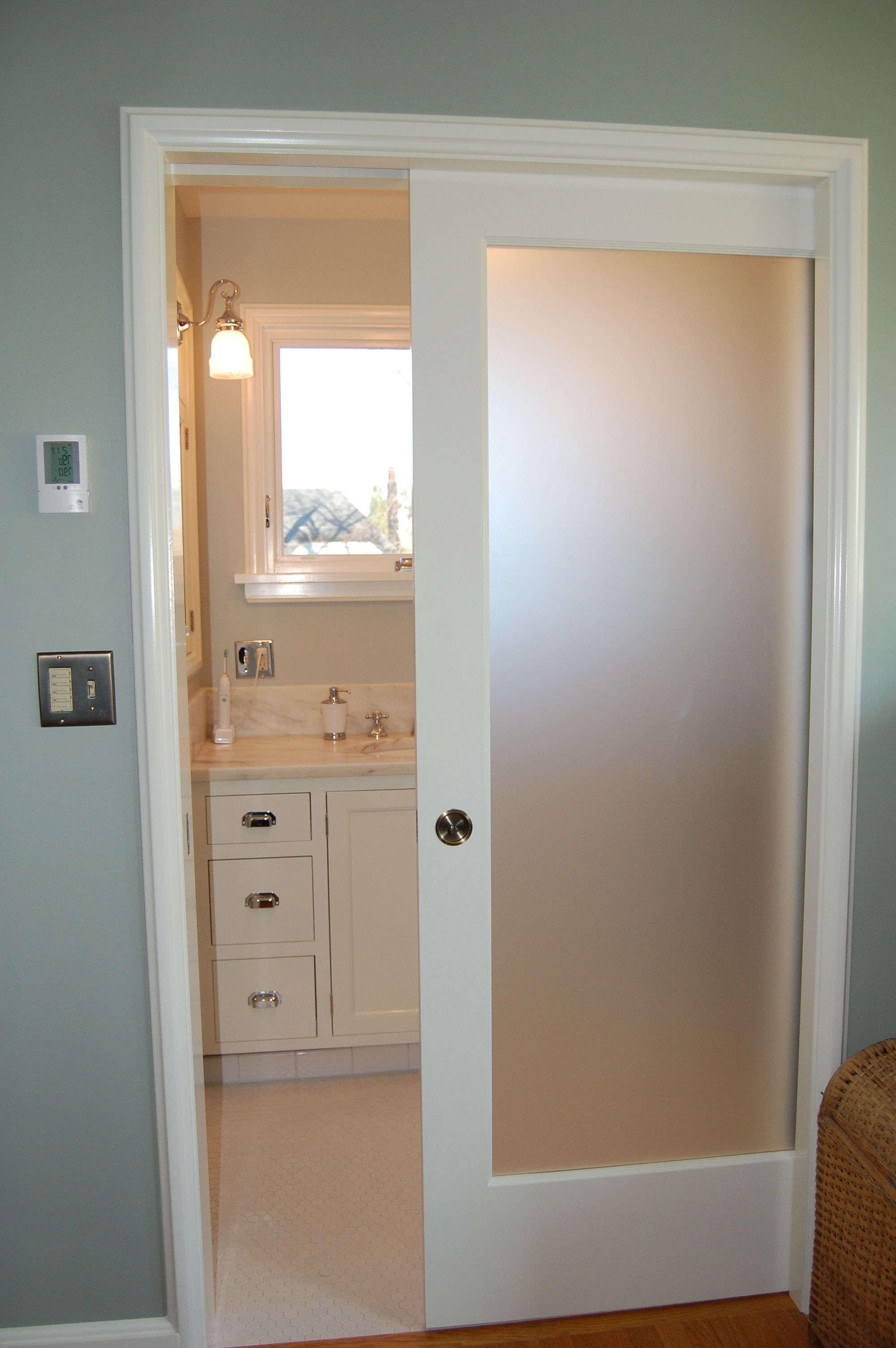 Decorative Glass Interior Pocket Doors