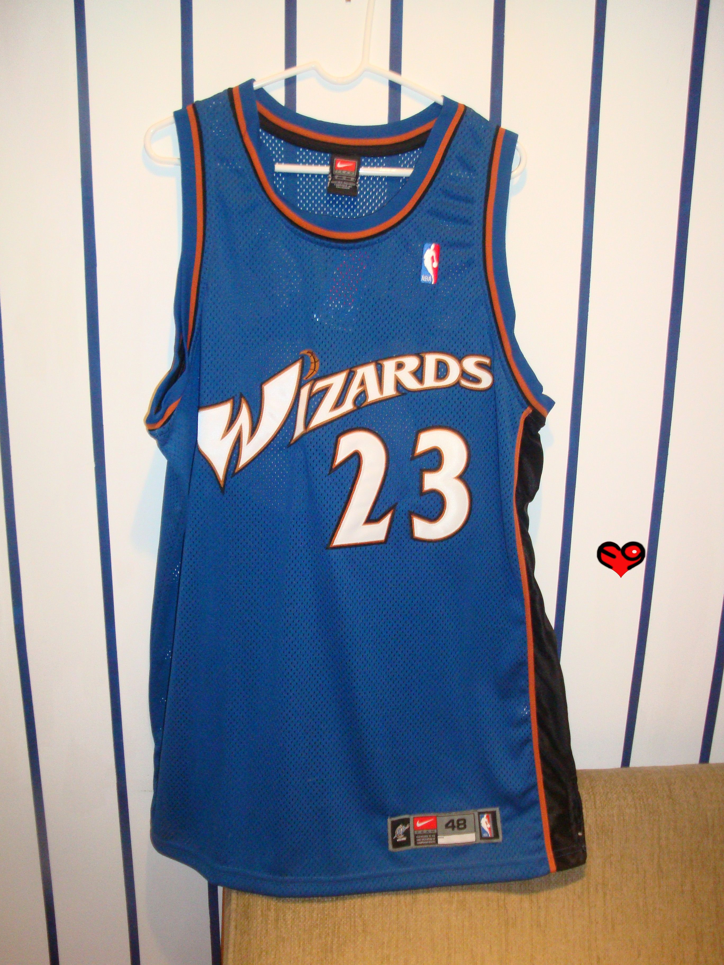 new product 7a04c 568a3 Jordan Authentic Nike Wizards Away Jersey (front) | Michael ...