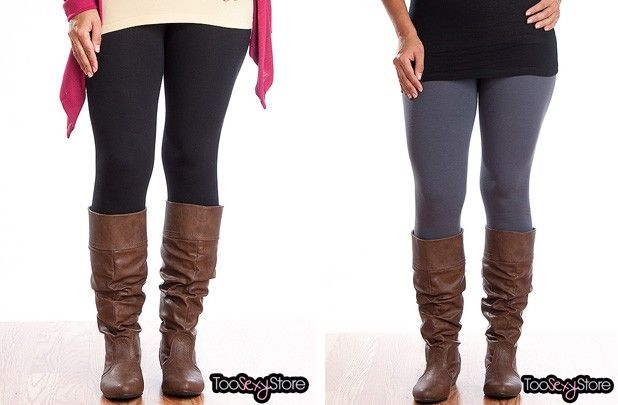 Soft Cotton Basic Leggings - 4 Colors! 47% off at Groopdealz