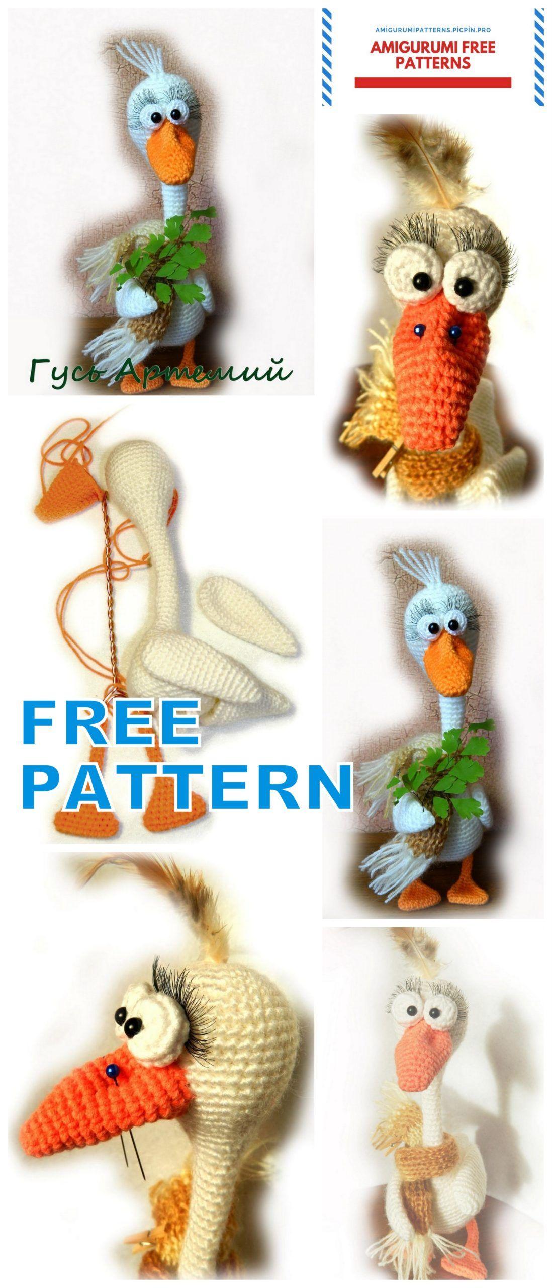 Amigurumi goose free crochet pattern in 2020 funny