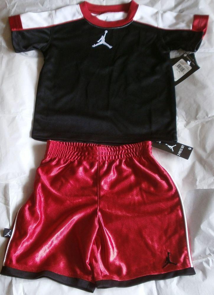 f6577c3ad2f5 Nike Air Jordan Boys Youth Jumpman Logo T-Shirt Shorts 2 Piece Set   750248-297  Nike  Everyday