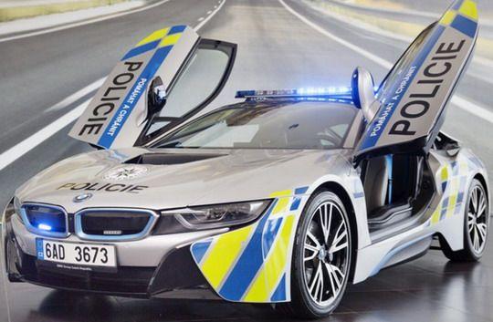 Bmw I8 Hybrid Electric Car For Prague Police Cars Vehicles