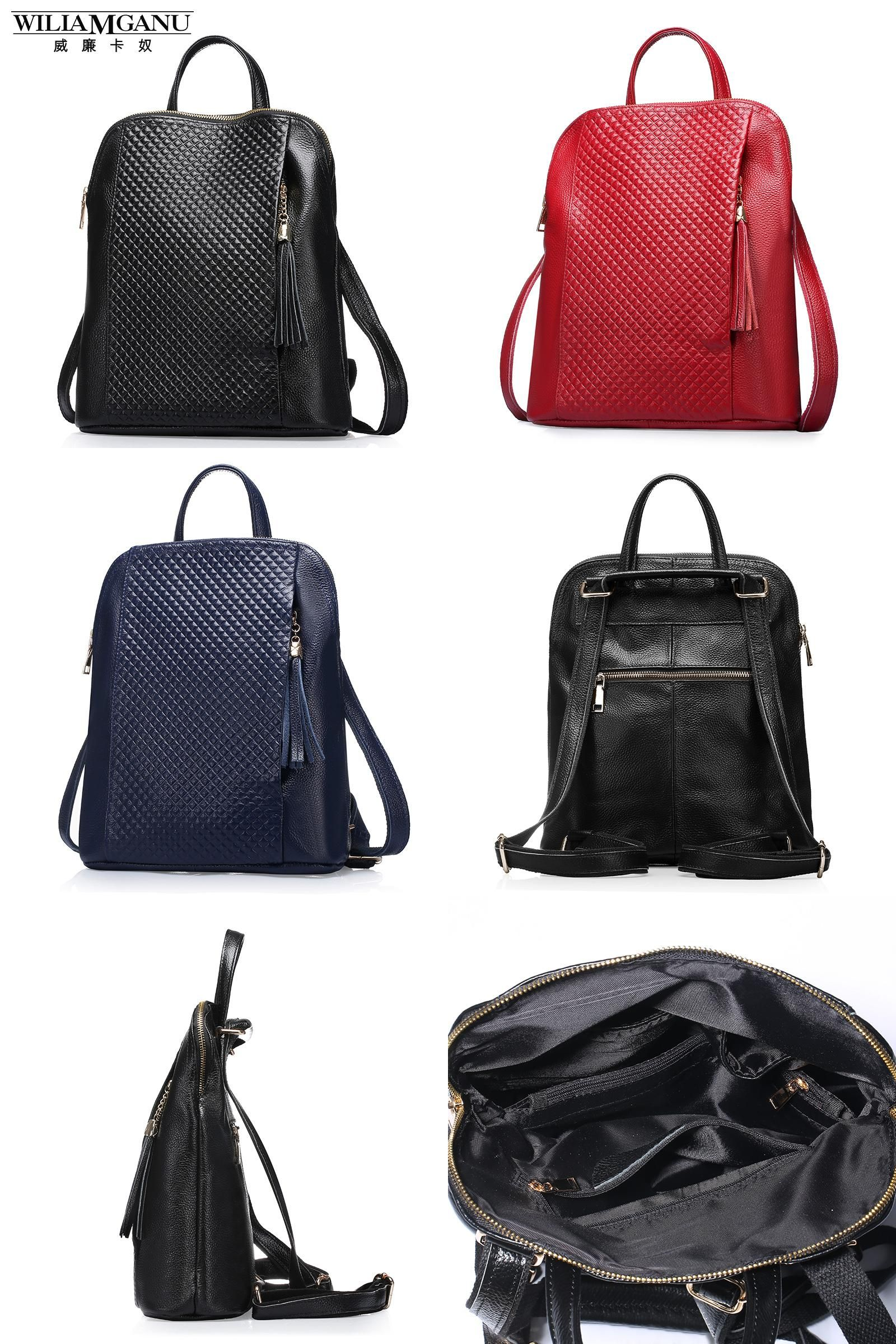 9acf877b03a2 Visit to Buy] WILIAMGANU Genuine Leather Backpacks Women School ...