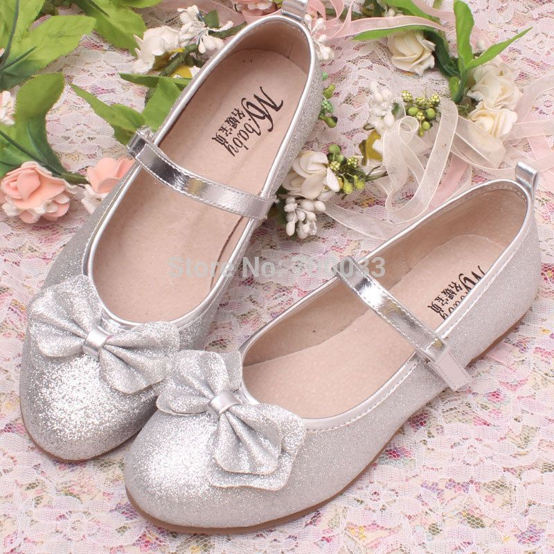 New Arrival Glitter Children Wedding Shoes Cute Princess Shoes For Kids  Ballet Flats Casual Shoes Spring-in Leather Shoes from Mother   Kids on ... 60b7b84ac967