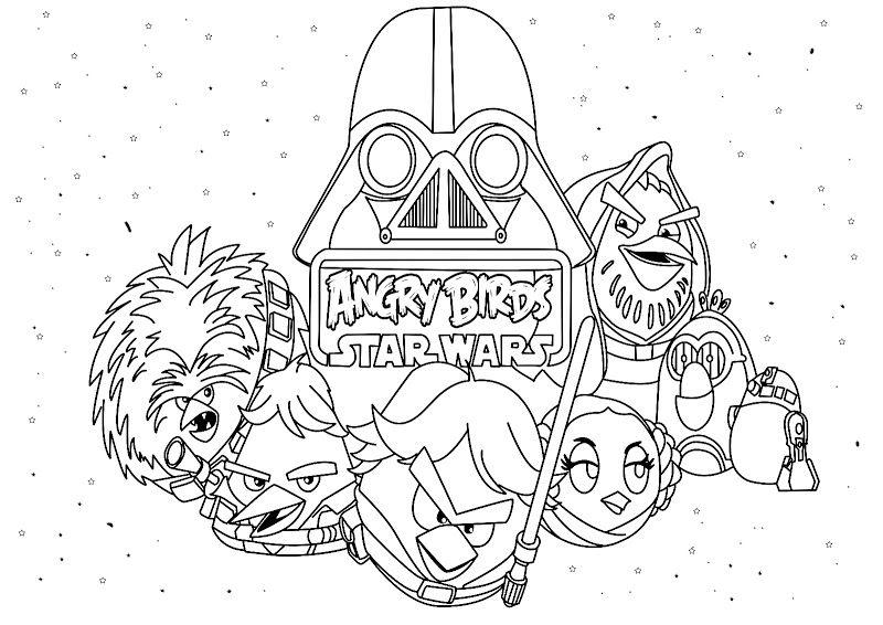 Angry Birds Star Wars For Print And Color Ausmalbilder Vogel Malvorlagen Lustige Malvorlagen