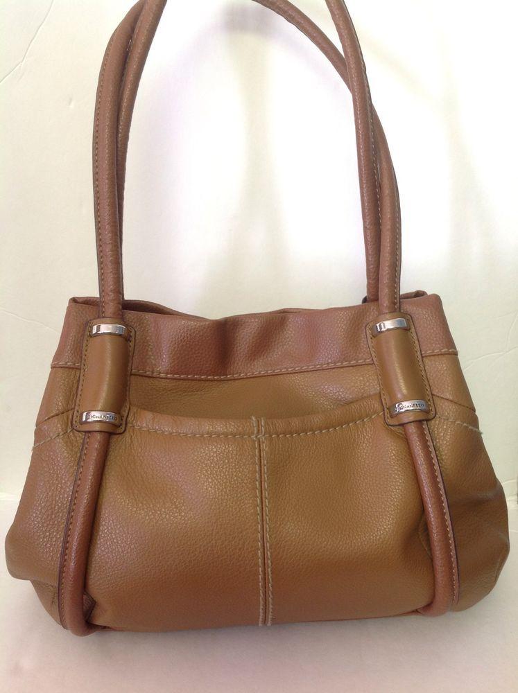 698d1d0ea5 Bag Genuine Leather Purse Tignanello Honey Brown Camel Designer Fashion  Stylish  Tignanello  Hobo