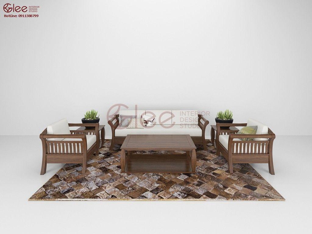 Bộ sofa gỗ sồi mỹ đẹp của gleehome sofa gỗ pinterest