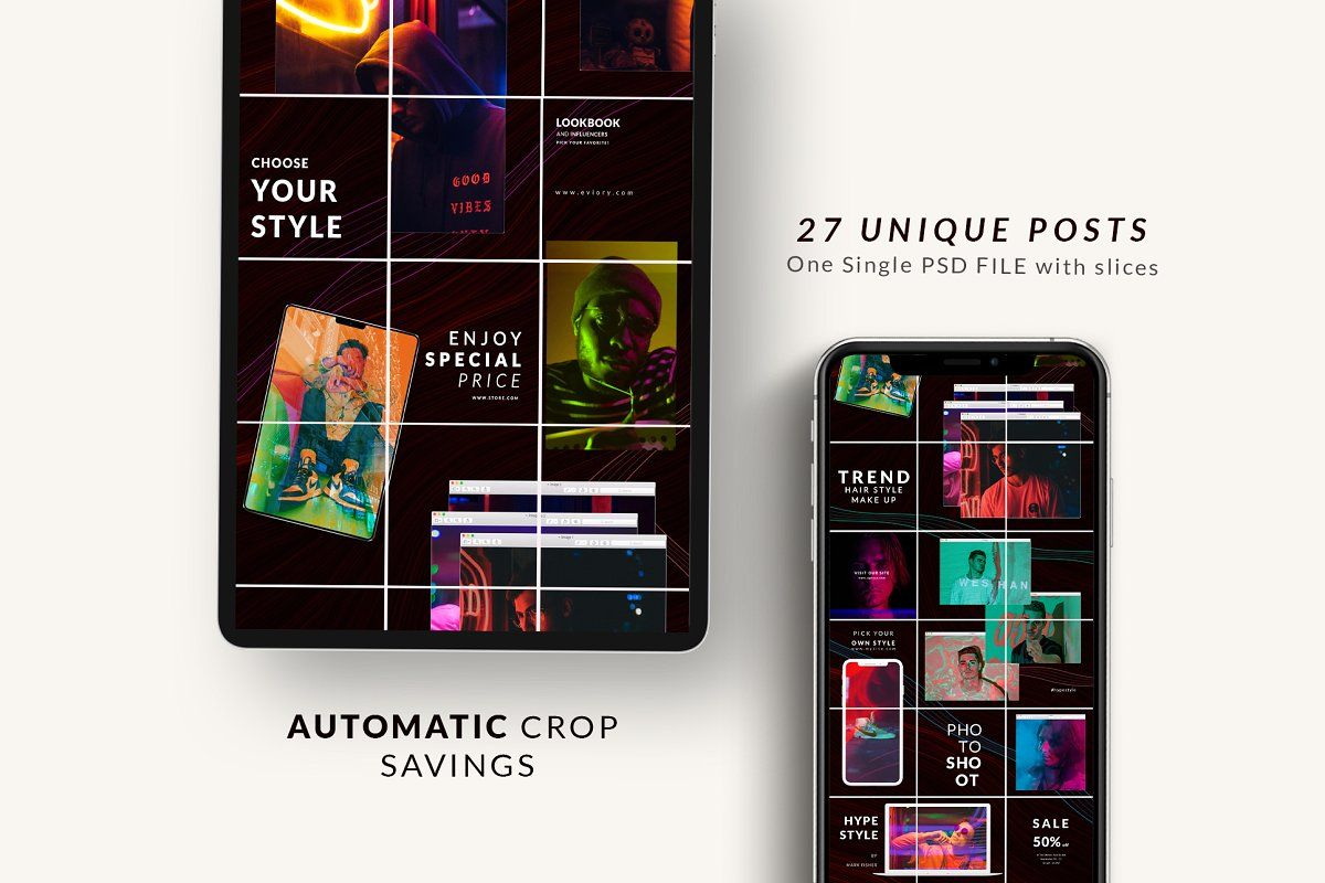 Ad Instagram Puzzle Canva & PS by Eviory on