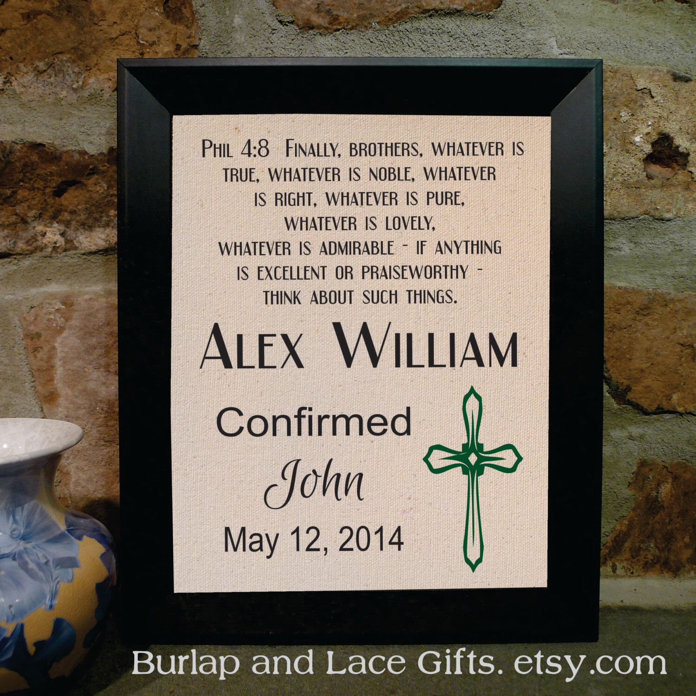 confirmation gift for boy framed confirmation print confirmed