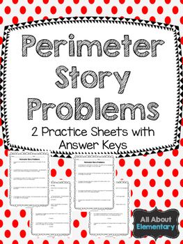 Perimeter Story Problems Story Problems Math Notebooks Small
