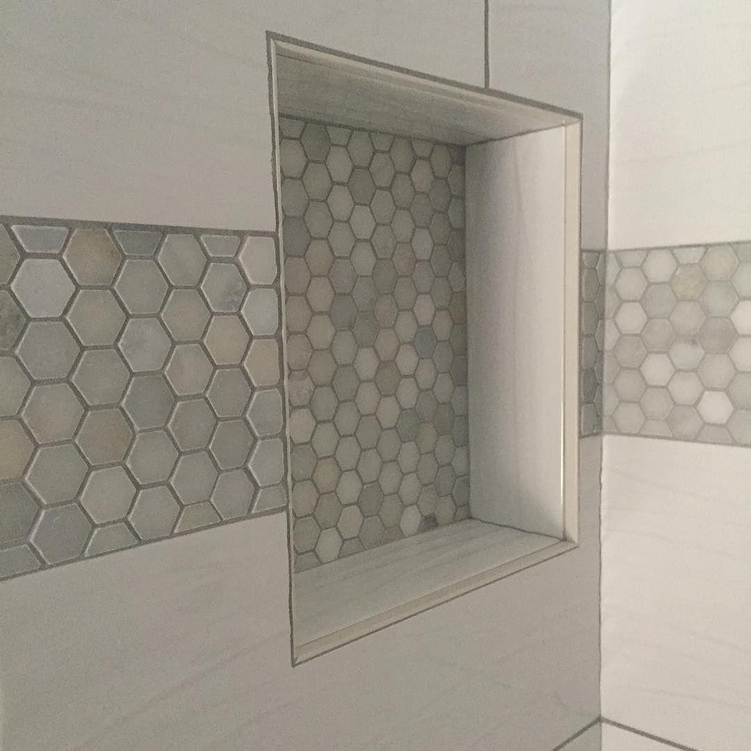 Pin By Kathy Hasten On Bathroom In 2020 Trendy Bathroom Tiles Bathroom Floor Tiles Large White Tiles