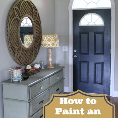 How To Paint An Interior Door Hale Navy Home Decor Painted