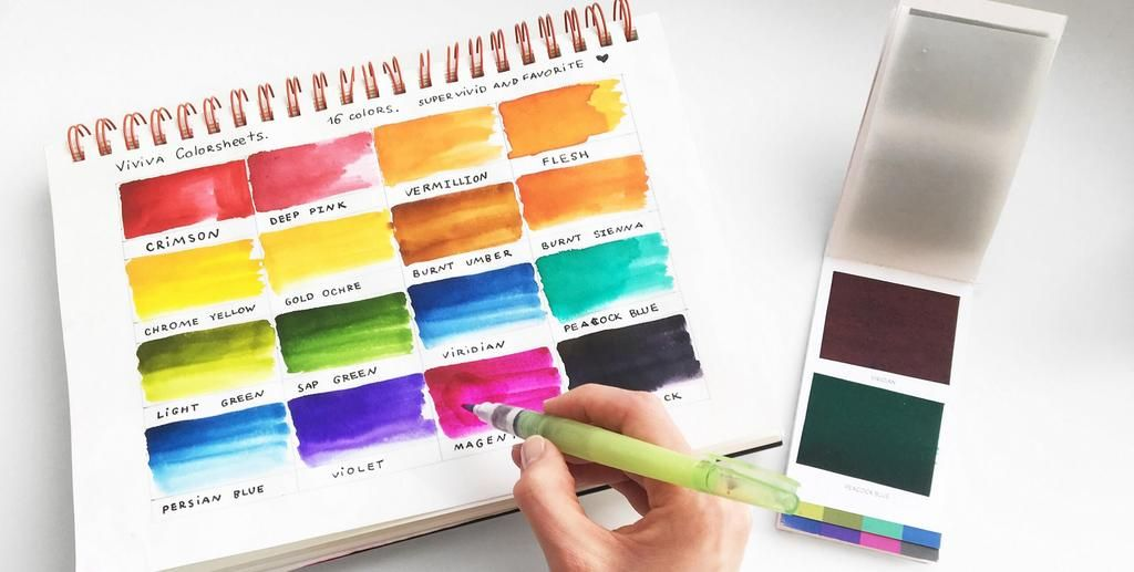 Viviva Colorsheets The Most Portable Watercolor Sheets Ever
