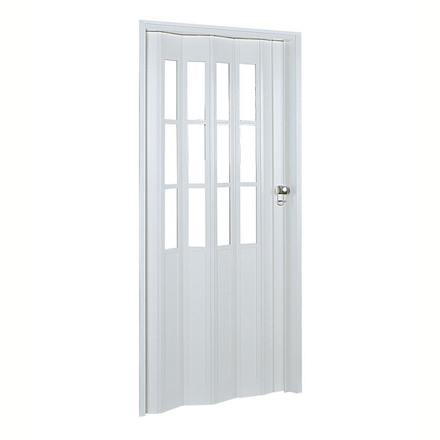 Spectrum Capri White Hollow Core 1 Panel Accordion Interior Door Common 32 In X 80 In Actual 33 85 In X 80 75 In Accordion Doors Doors Interior Interior