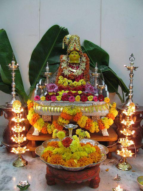 Vishnu And Lakshmi Varalakshmi Pooja Pooja Pinterest Decoration