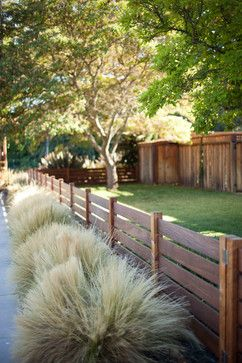 Front Yard Fences Design Ideas, Pictures, Remodel, and Decor - page 10.  Low fence in a dark color. -   23 short garden fence