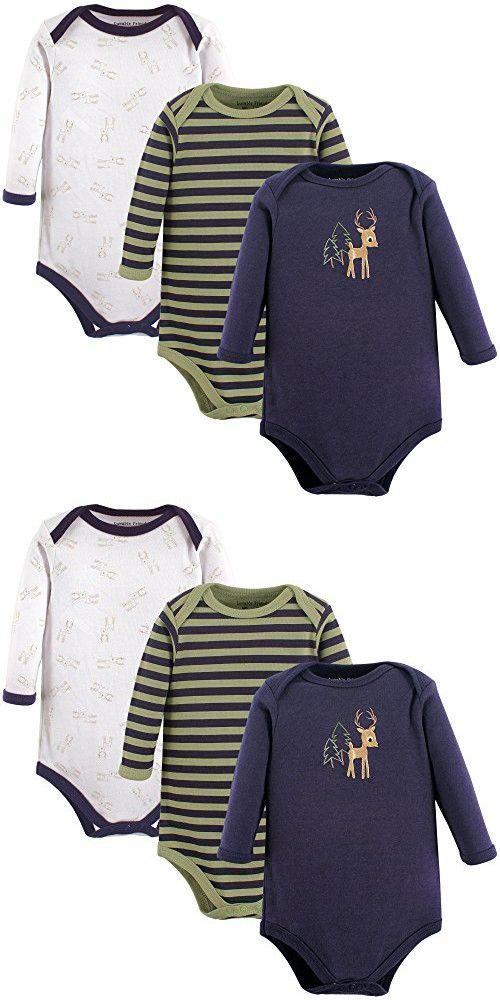5a7b24136a4 Luvable Friends Hanging Long Sleeve Bodysuits 3PK