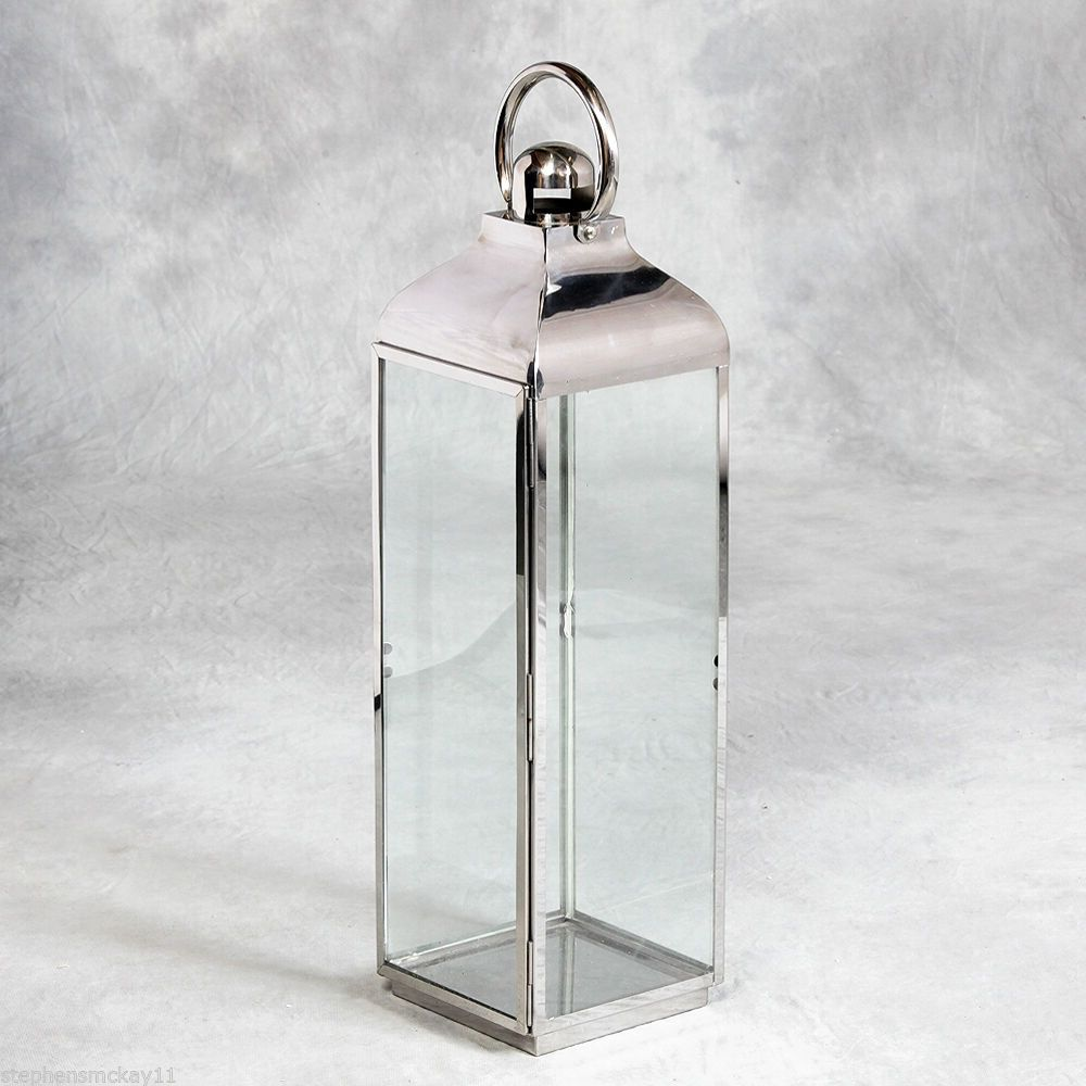 Esszimmermöbel Ebay Great Quality Polished Stainless Steel Tempered Glass Lantern 79cm