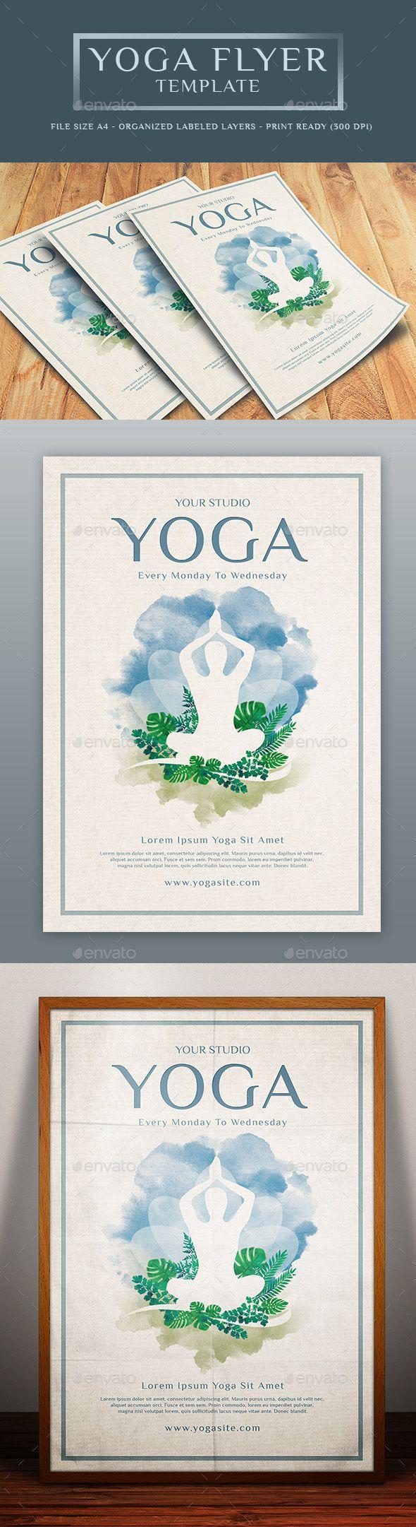 Yoga Flyer Template Psd Graphic Design Pinterest Yoga Flyer