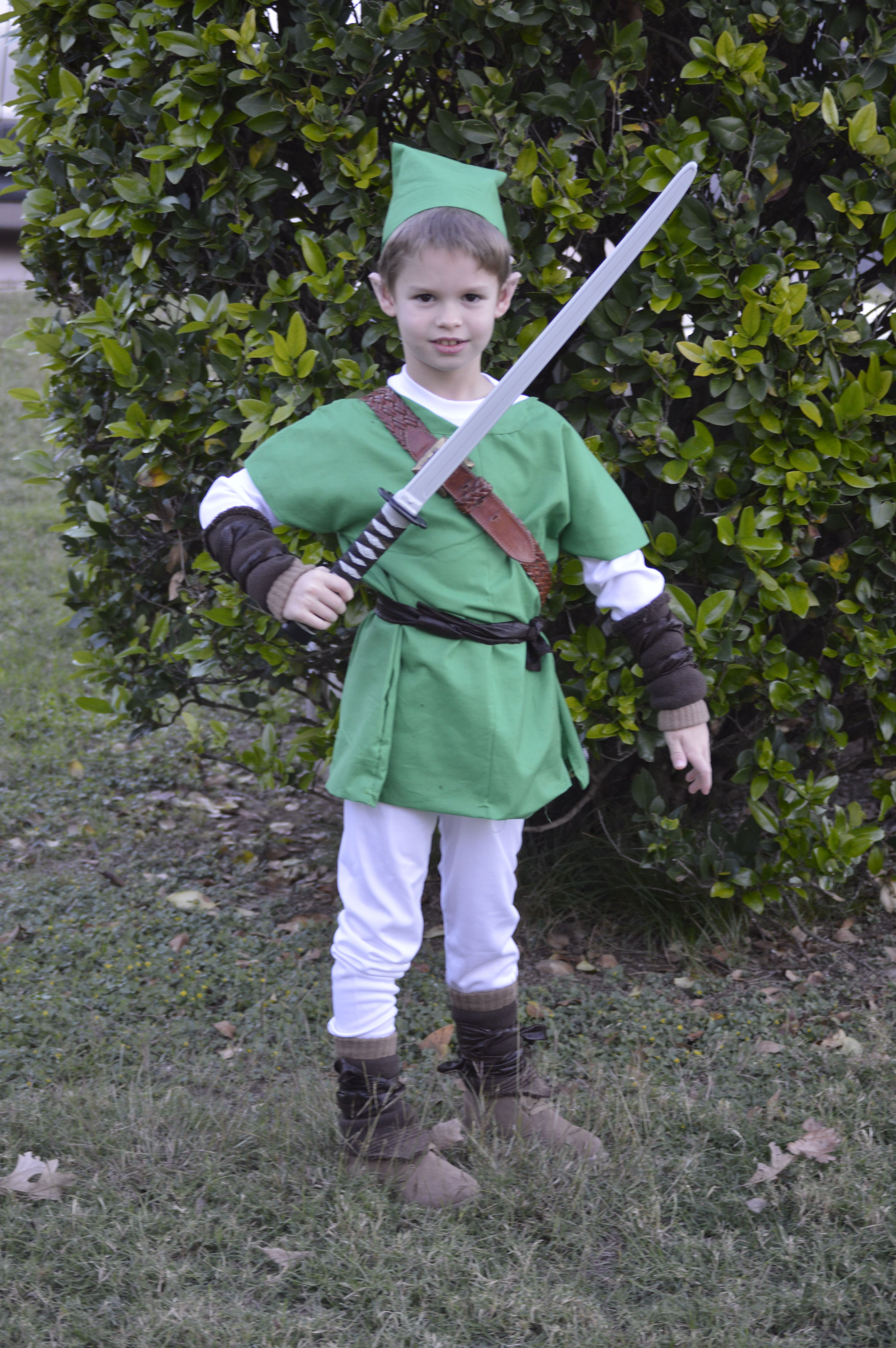 Homemade Link from The Legend of Zelda Halloween costume - used clear tape to point his ears.  sc 1 st  Pinterest & Homemade Link from The Legend of Zelda Halloween costume - used ...