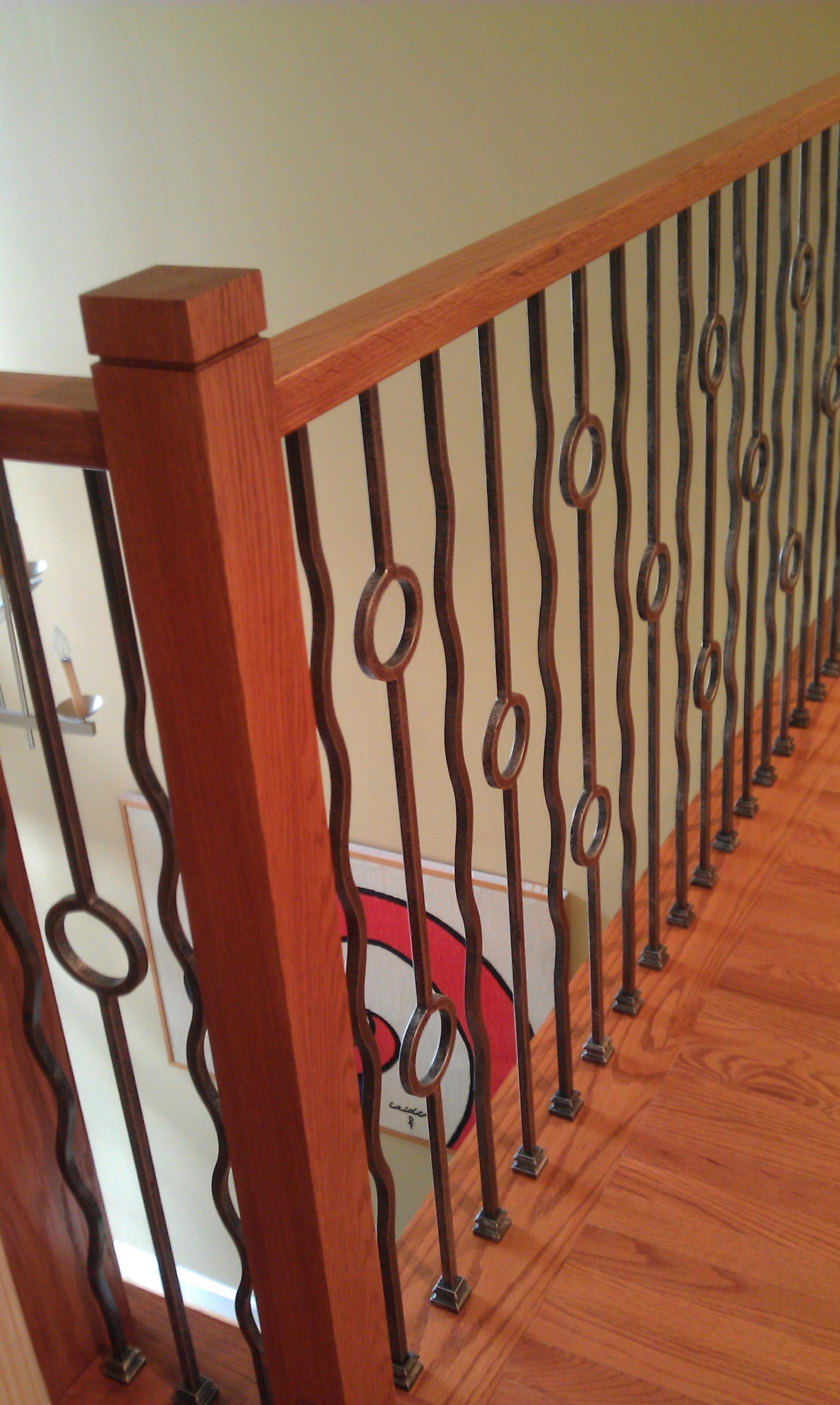 Baluster Stair Remodel Contemporary Iron Baluster