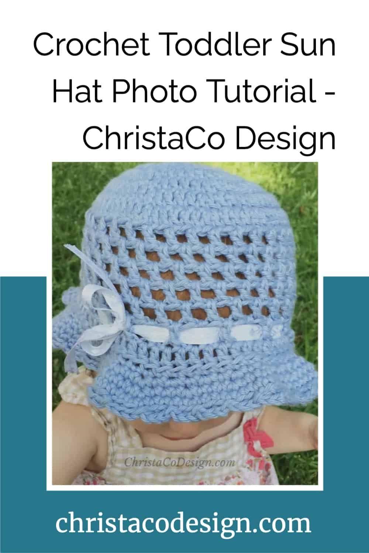 Crochet Toddler Sun Hat Photo Tutorial in 12   Crochet toddler ...