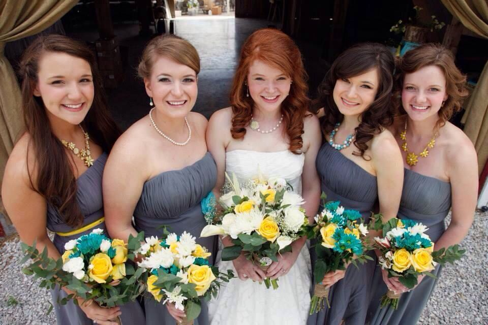 Bridesmaid dress color for redheads