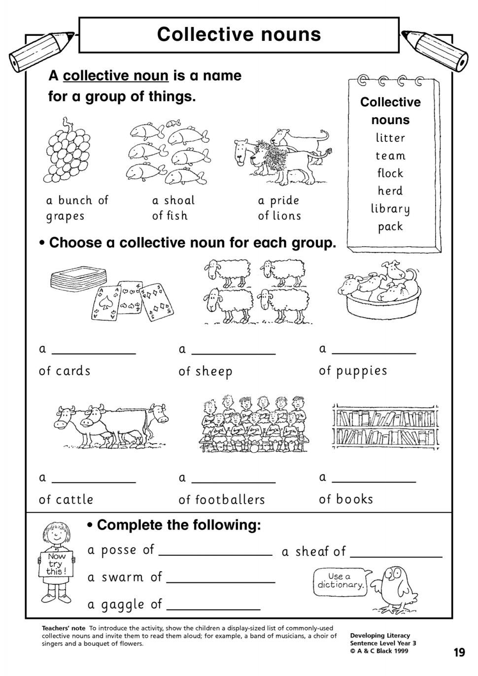 Nouns Worksheets For Grade 2 Collective Nouns Worksheet Nouns Worksheet 2nd Grade Worksheets [ 1373 x 970 Pixel ]
