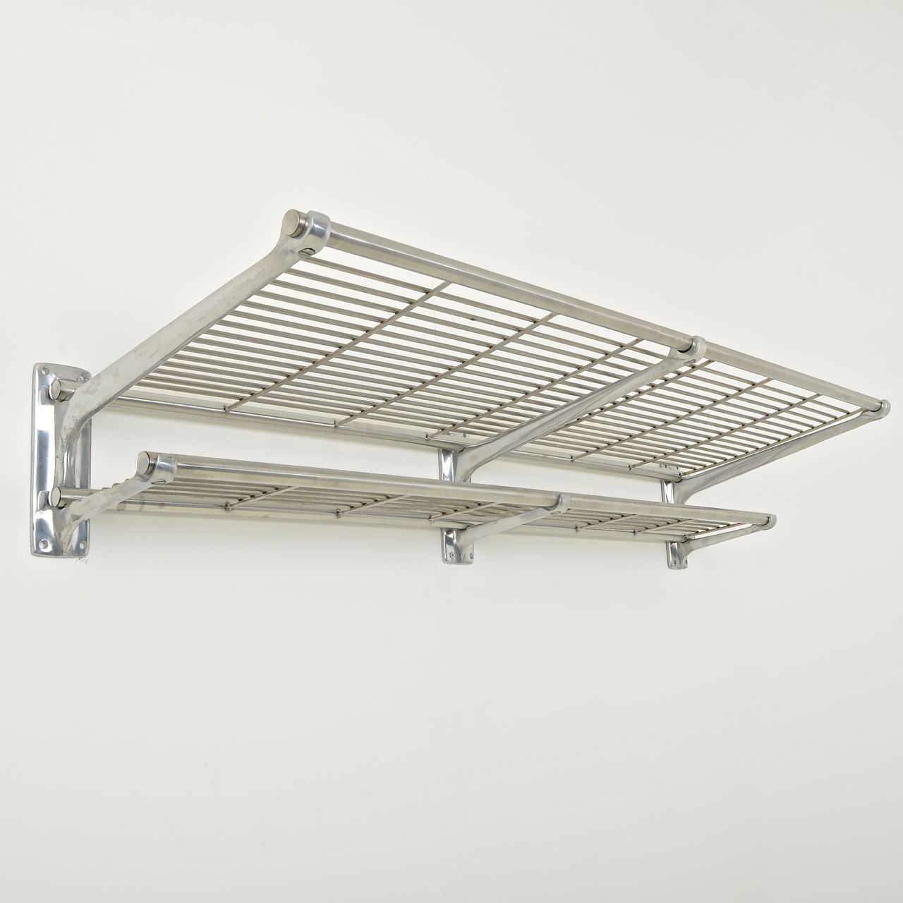 railway luggage rack cast aluminium brackets and welded steel mesh
