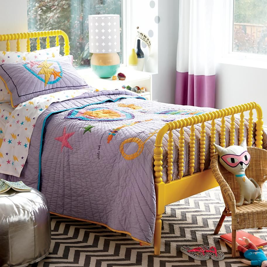 Save the Day Super Girl Kids Quilt The Land of Nod