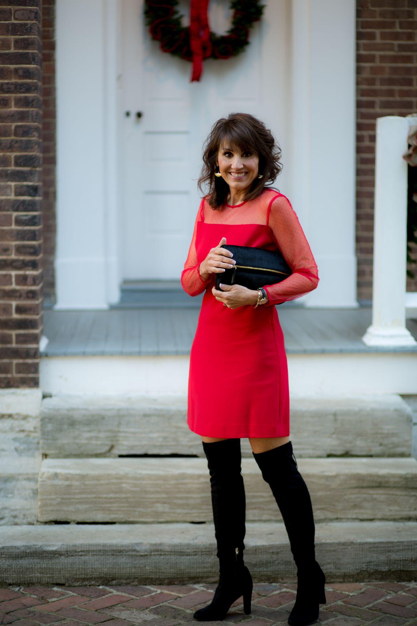 25 Days of Winter Fashion: Red Dress +