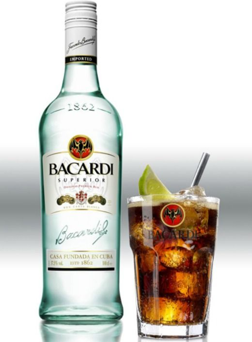 Original bacardi cuba libre big boy juice pinterest for Mixed drinks with white rum