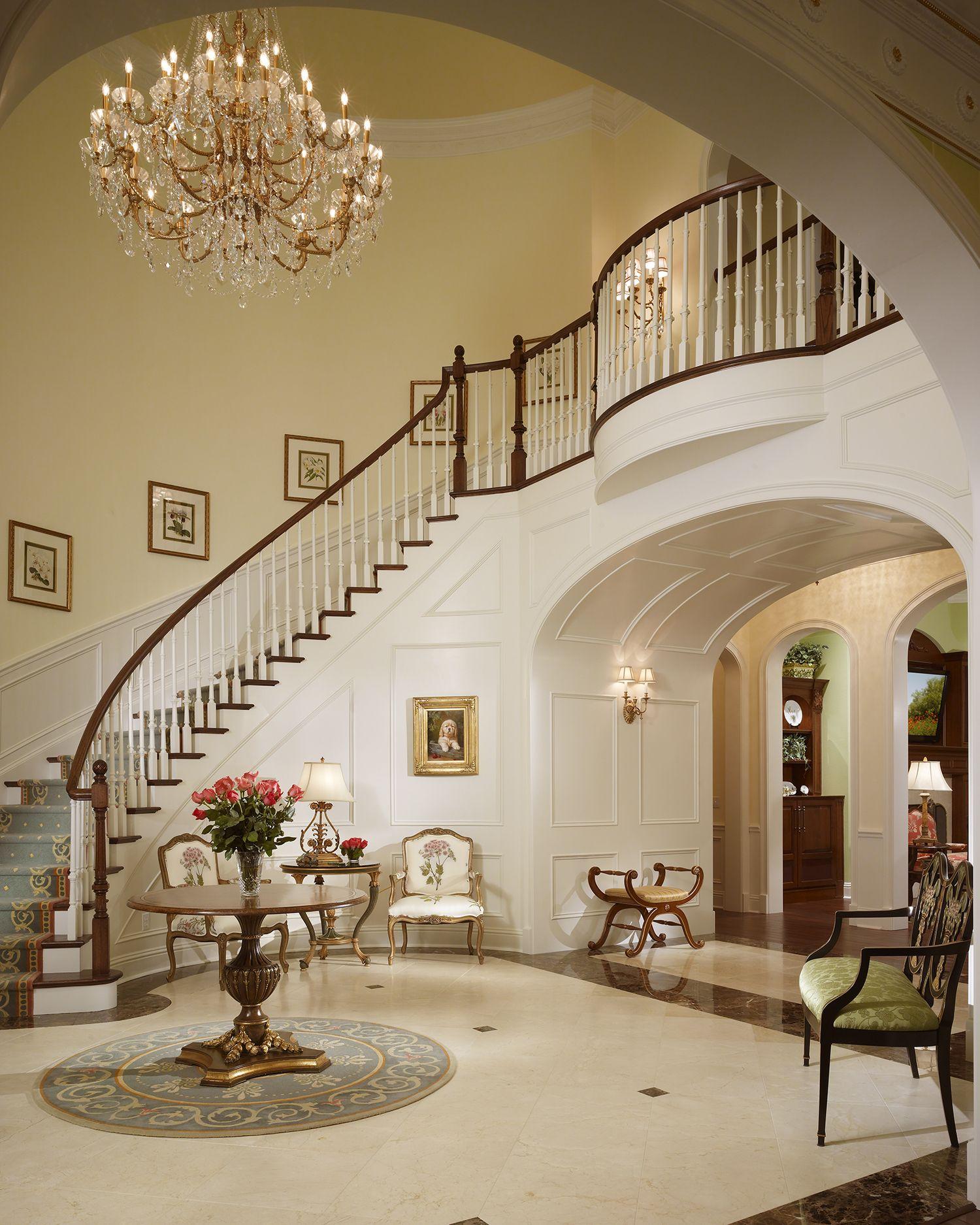 log home grand staircase  Estate Home Florida    Haus